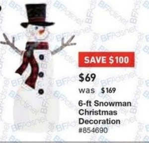 6' Snowman Christmas Decoration