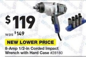 "Kobalt 8-amp 1/2"" Corded Impact Wrench w/ Hard Case"