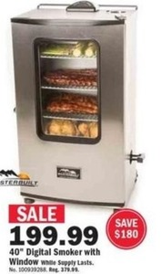 "Sterbuilt 40"" Digital Smoker w/ Window"