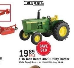 1:16 John Deere 3020 Utility Tractor