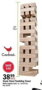 Giant Sized Tumbling Tower