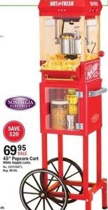 "45"" Popcorn Cart"