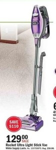Rocket Ultra Light Stick Vacuum