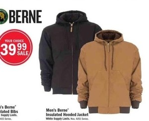 Men's Berne Insulated Hooded Jacket