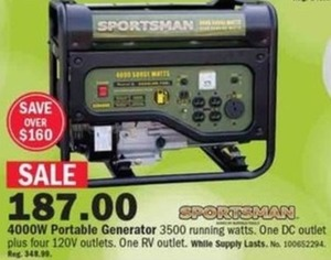 4000W Portable Generator