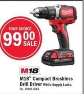 M18 Compact Brushless Drill Driver