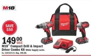 M18 Compact Drill & Impact Driver Combo Kit