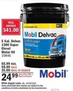 5 Gal. Delvac 1300 Super Diesel Motor Oil