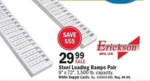 Steel Loading Ramps Pair