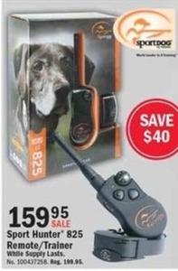 SportHunter 825 Remote/Trainer