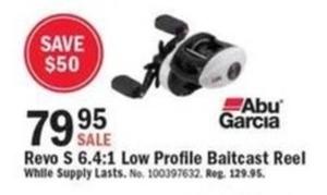Abu Garcia Revo S 6.4:1 Low Profile Baitcast Reel