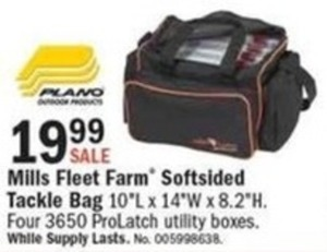 Mills Fleet Farm Softsided Tackle Box