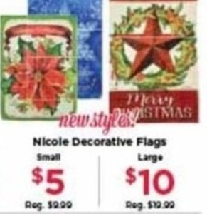 Nicole Small Decorative Flags
