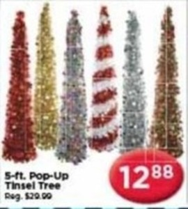 5 ft. Pop Up Tinsel Tree