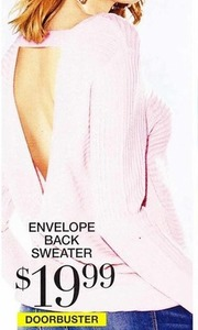 Envelope Back Sweater