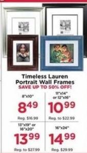 """Timeless Lauren Portrait Wall Frames 8x10"""""""