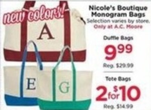 Nicole's Boutique Monogram BagsDuffle Bags