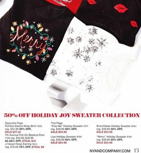 Holiday Joy Sweater Collection