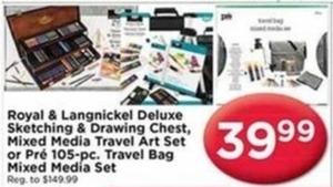 Pre 105-Pc. Travel Bag Mixed Media Set