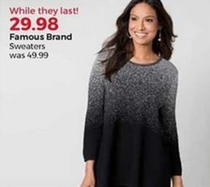 Women's Famous Brand Sweaters