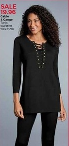 Cable and Gauge Tunic Sweaters