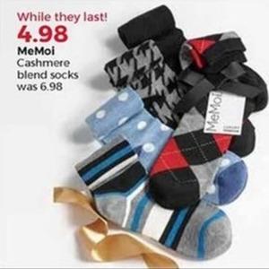 MeMoi Cashmere Blend Socks