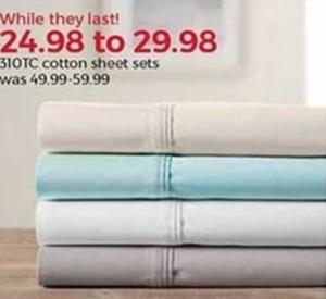 310 TC Cotton Sheet Sets