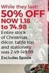 Christmas Decor, Table Top, & Stationary
