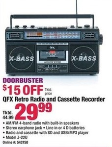 QFX Retro Radio and Cassette Recorder