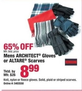 Architect or Altare Men's Gloves & Scarves