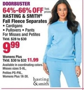 Hasting & Smith Fall Fleece Seperates