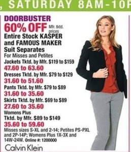 Entire Stock Kasper and Famous Maker Suit Seperates