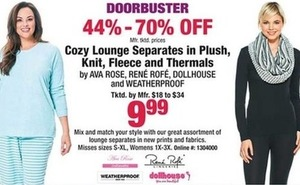 Cozy Lounge Separates in Plush, Knit, Fleece and Thermals