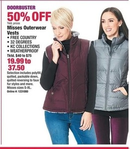 Misses Outerwear Vests