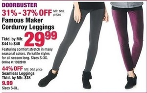 Famous Maker Corduroy Leggings
