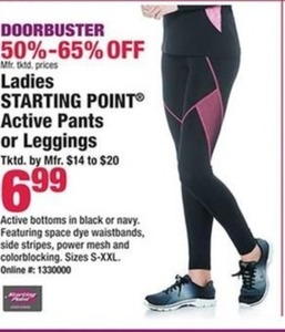 Ladies Starting Point Active Pants or Leggings