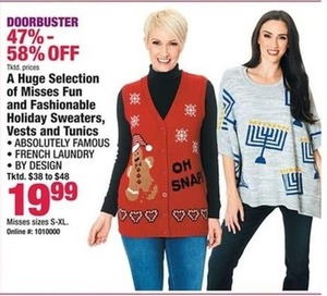 Women's Holiday Sweaters, Vests & Tunics
