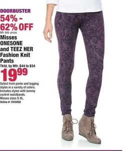 Misses One5One & Teez Her Fashion Knit Pants