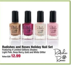 Radishes and Roses Holiday Nail Set