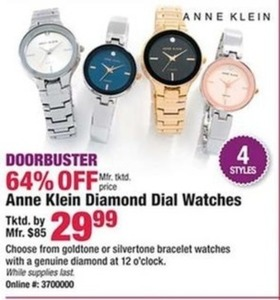 Anne Klein Diamond Dial Watches