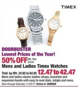 Mens & Ladies Timex Watches