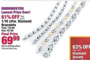 1/10 Cttw. Diamond Bracelets