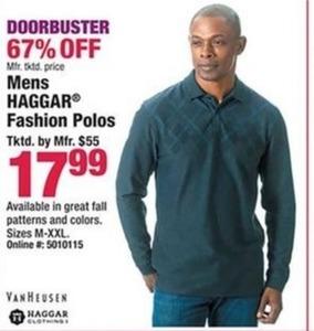 Haggar Men's Fashion Polos