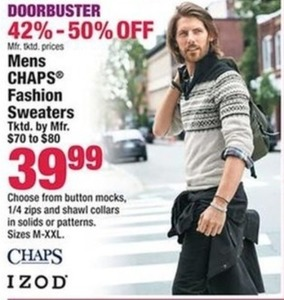 Chaps Men's Fashion Sweaters