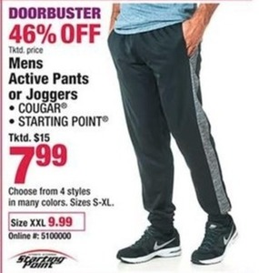 Mens Active Pants or Joggers