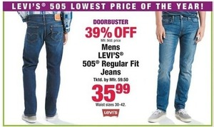 Men's Levi's 505 Regular Fit Jeans