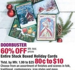 Entire Stock Boxed Holiday Cards