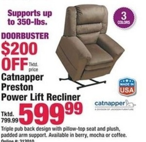 Catnapper Preston Power Lift Recliner