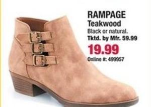 Ranpage Teakwood Bootie