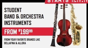 Student Band & Orchestra Instruments
